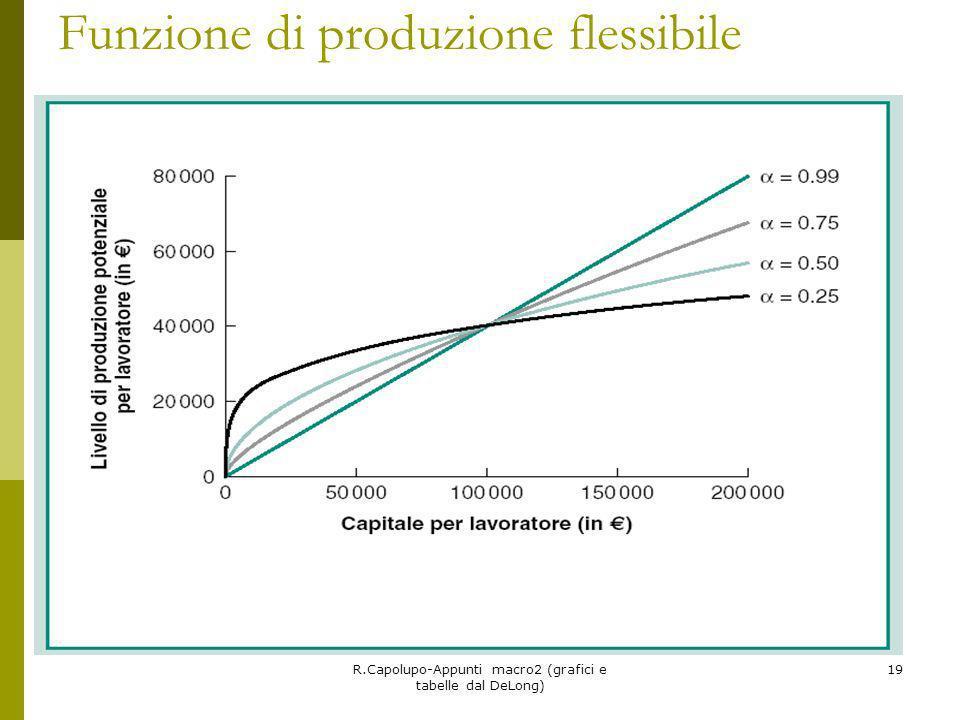R.Capolupo-Appunti macro2 (grafici e tabelle dal DeLong) 19 Funzione di produzione flessibile