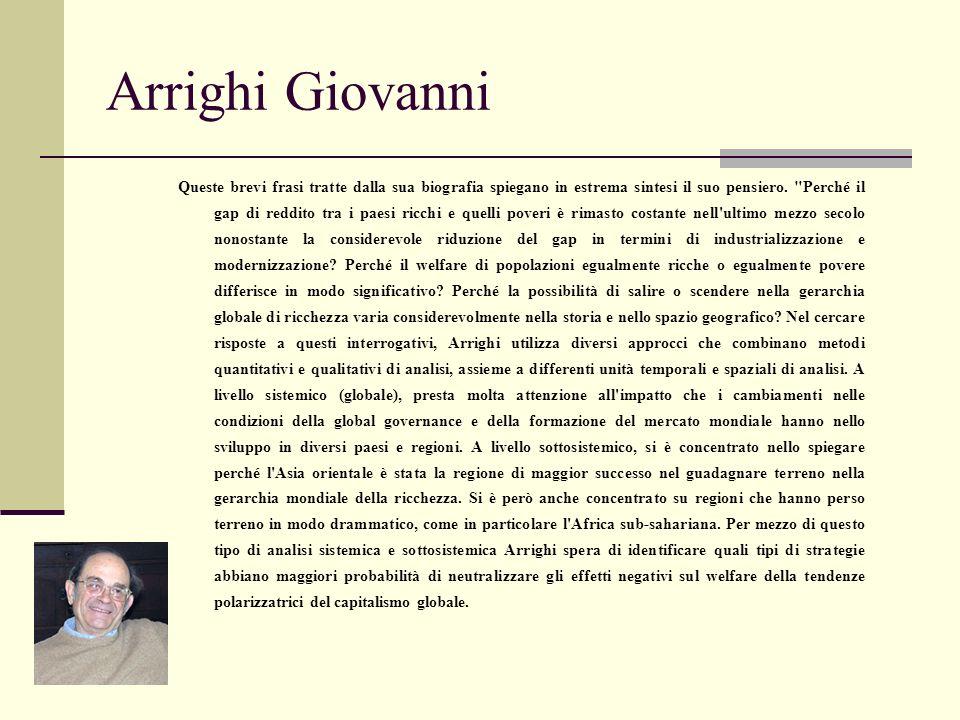 Arrighi Giovanni Queste brevi frasi tratte dalla sua biografia spiegano in estrema sintesi il suo pensiero.