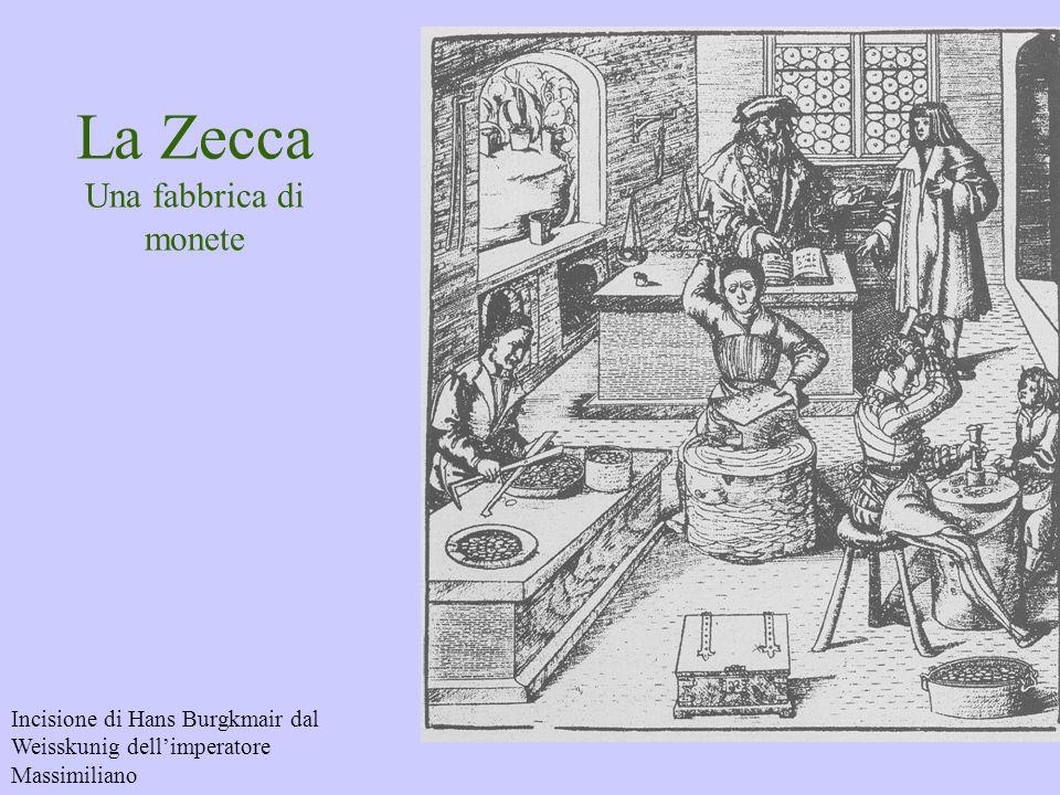 La Zecca Una fabbrica di monete Incisione di Hans Burgkmair dal Weisskunig dellimperatore Massimiliano