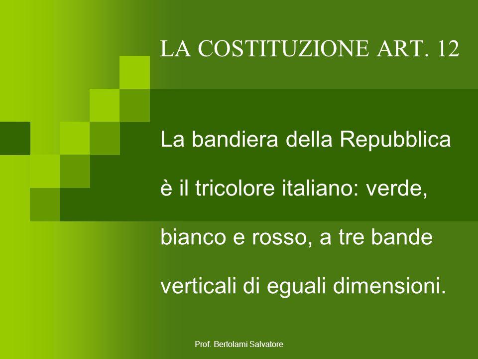Prof. Bertolami Salvatore LA COSTITUZIONE ART. 11 L'Italia ripudia la guerra come strumento di offesa alla libertà degli altri popoli e come mezzo di