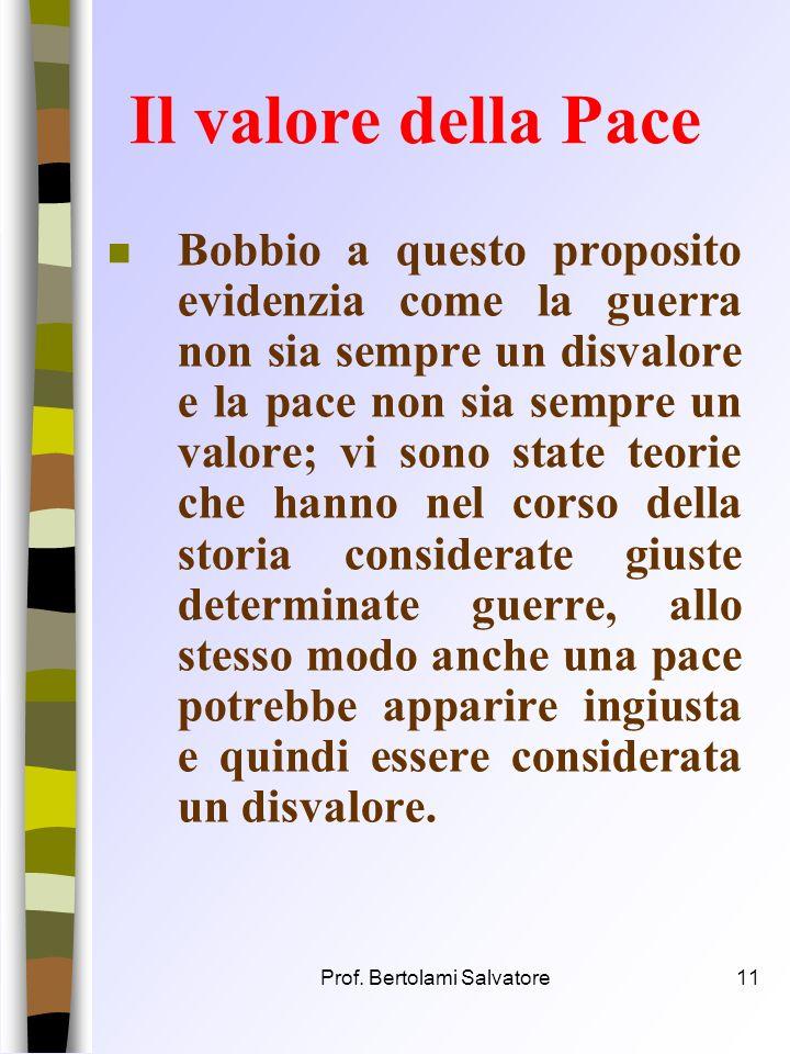Prof. Bertolami Salvatore10 Contrari/contraddittori n Due termini sono contrari quando luno esclude laltro ma entrambi non escludono un terzo intermed