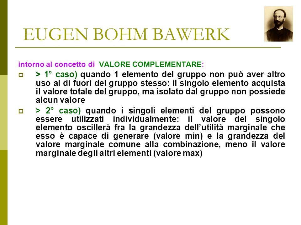 EUGEN BOHM BAWERK Eugen Ritter von Böhm-Bawerk (12 febbraio 1851 – 27 agosto 1914) fu un economista austriaco che diede un importante contributo allo