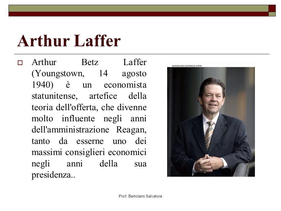Prof. Bertolami Salvatore Arthur Laffer Arthur Betz Laffer (Youngstown, 14 agosto 1940) è un economista statunitense, artefice della teoria dell'offer