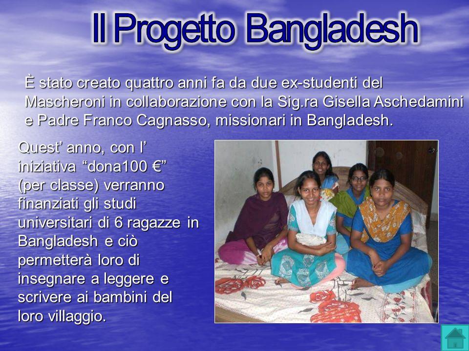 È stato creato quattro anni fa da due ex-studenti del Mascheroni in collaborazione con la Sig.ra Gisella Aschedamini e Padre Franco Cagnasso, missiona