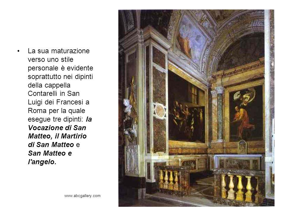 La sua maturazione verso uno stile personale è evidente soprattutto nei dipinti della cappella Contarelli in San Luigi dei Francesi a Roma per la qual