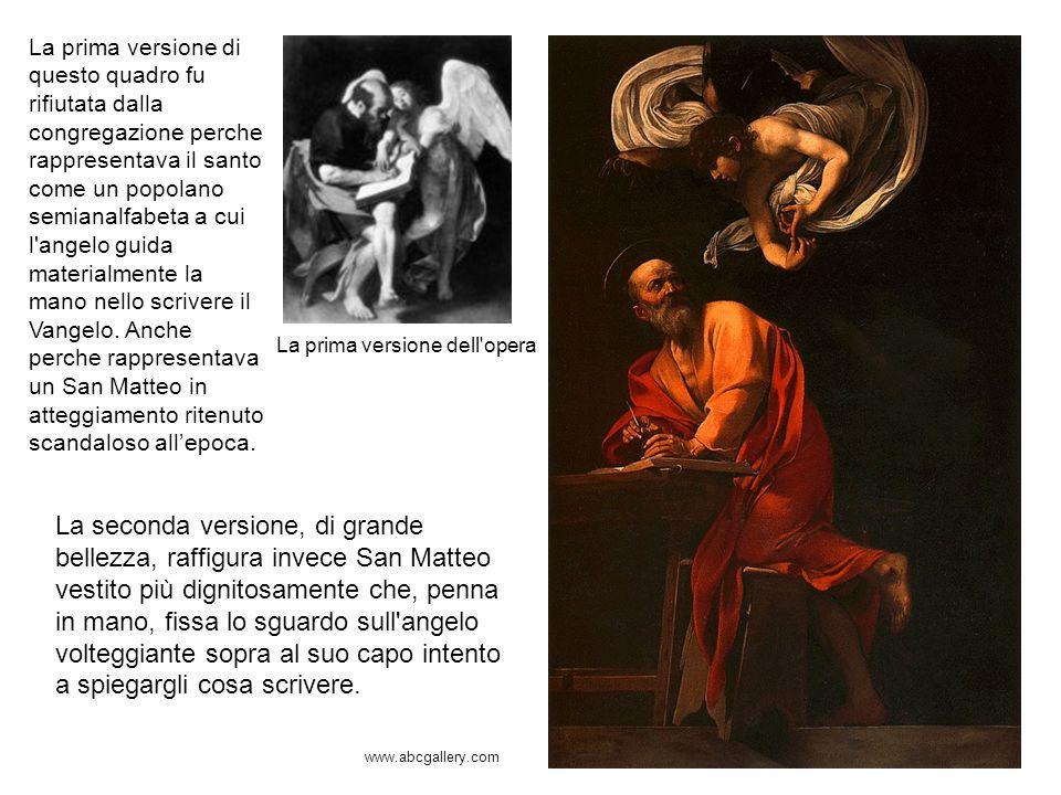 La prima versione dell'opera La prima versione di questo quadro fu rifiutata dalla congregazione perche rappresentava il santo come un popolano semian