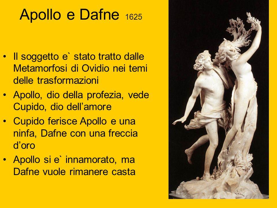 Il soggetto e` stato tratto dalle Metamorfosi di Ovidio nei temi delle trasformazioni Apollo, dio della profezia, vede Cupido, dio dellamore Cupido fe
