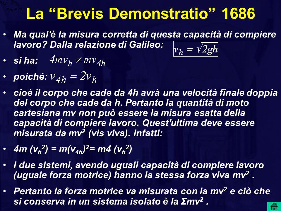 La Brevis Demonstratio 1686 Ma qual è la misura corretta di questa capacità di compiere lavoro.
