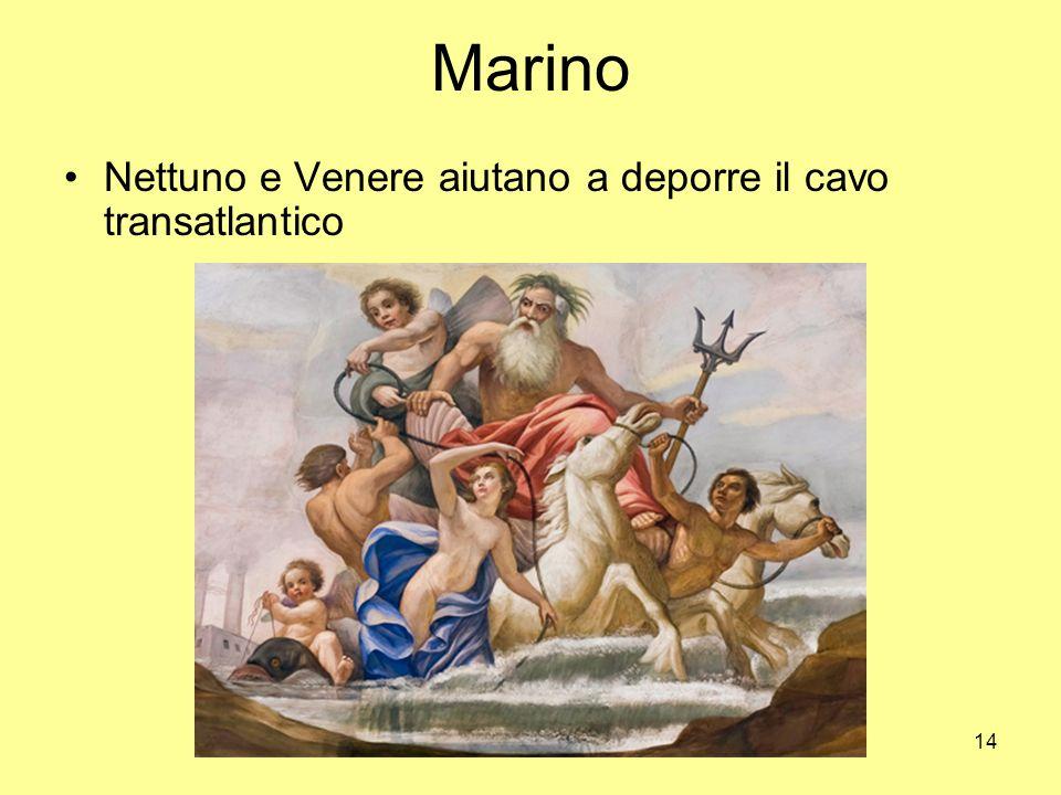 14 Marino Nettuno e Venere aiutano a deporre il cavo transatlantico