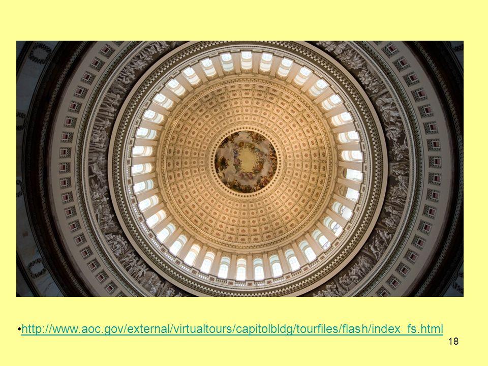 18 http://www.aoc.gov/external/virtualtours/capitolbldg/tourfiles/flash/index_fs.html