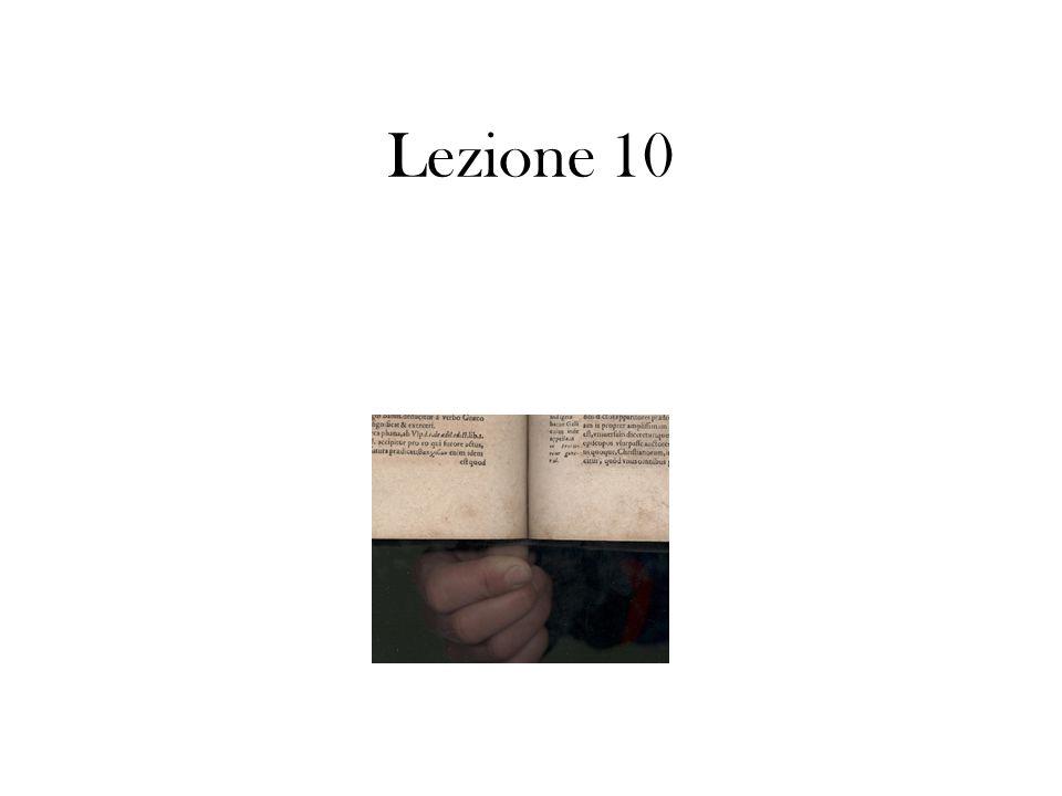 Lezione 10