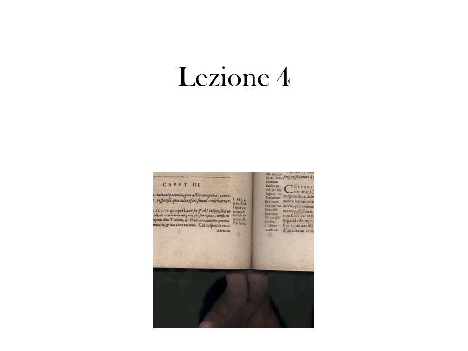 Lezione 4