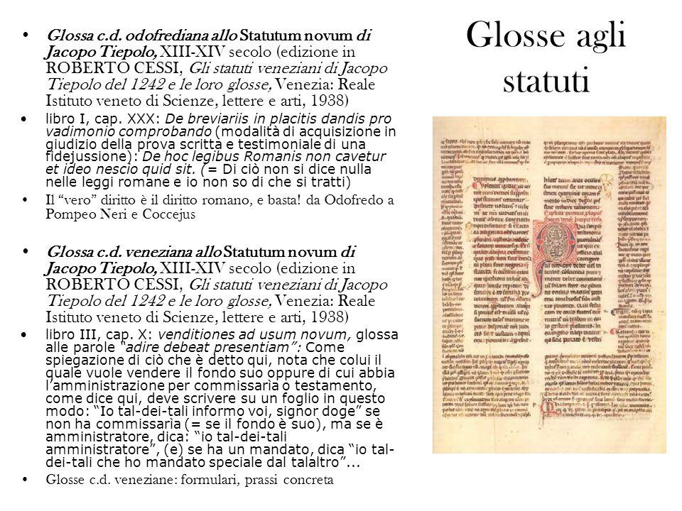 Glosse agli statuti Glossa c.d.