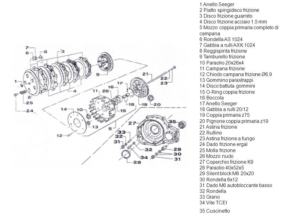 1 Albero motore K9 completo 2 Biella ric. forgiata Ø20 K9 completa 3 Coppia semialberi 4 Rondella argentata 5 Asse accoppiamento Ø20x54,4 6 Gabbia arg