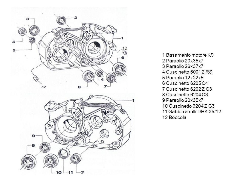 1 Bobina PVL 2 Accensione PVL 3 Paraolio accensione 20x35x7 4 Vite TCEI 5x40 5 Vite TCEI 5x30 6 Rondella accensione Ø5 7 Vite TCEI 6x55 8 Vite TCEI 6x