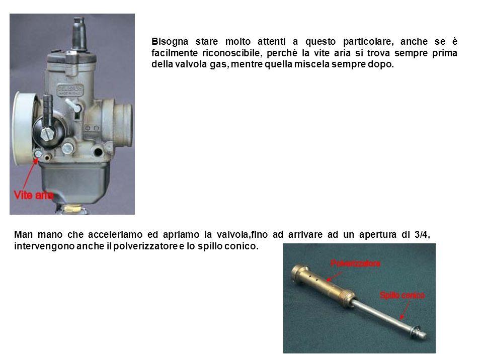 MINIMO PROGRESSIONE E CIRCUITO DEL MASSIMO Abbiamo detto che fino ad 1/8 di apertura della valvola gas, interviene il circuito del minimo e lo smusso