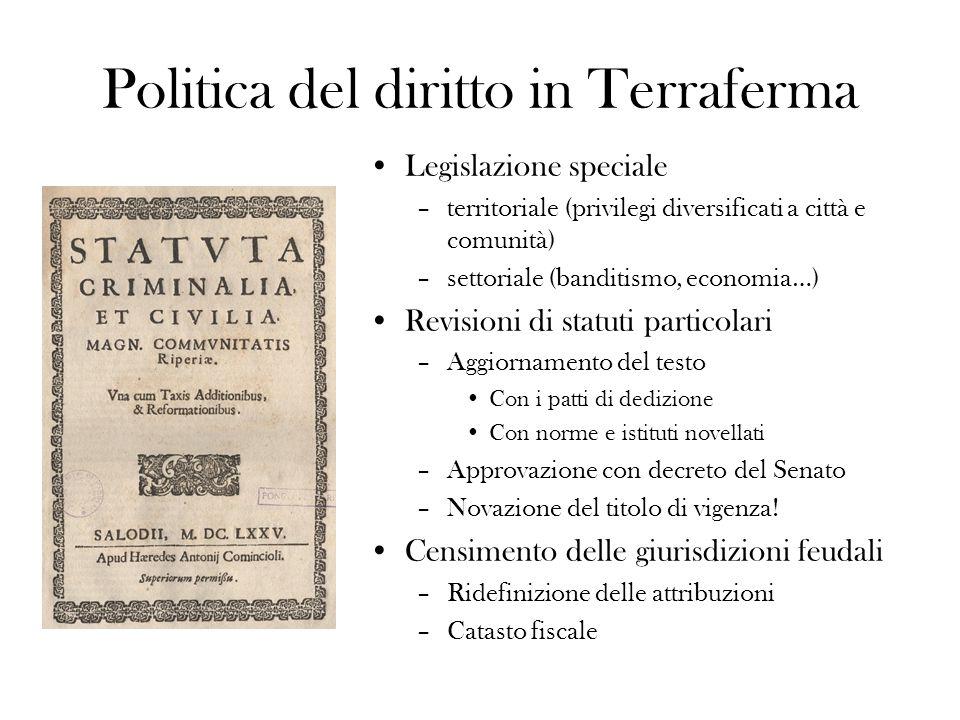 Un esempio: gli statuti della Riva del Garda (podesteria di Salò) Inserite in premessa le attribuzioni sovraordinate del rettore