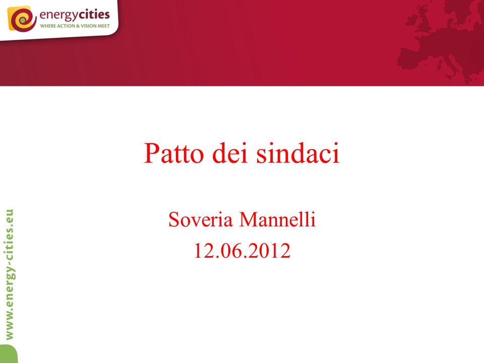 Patto dei sindaci Soveria Mannelli 12.06.2012