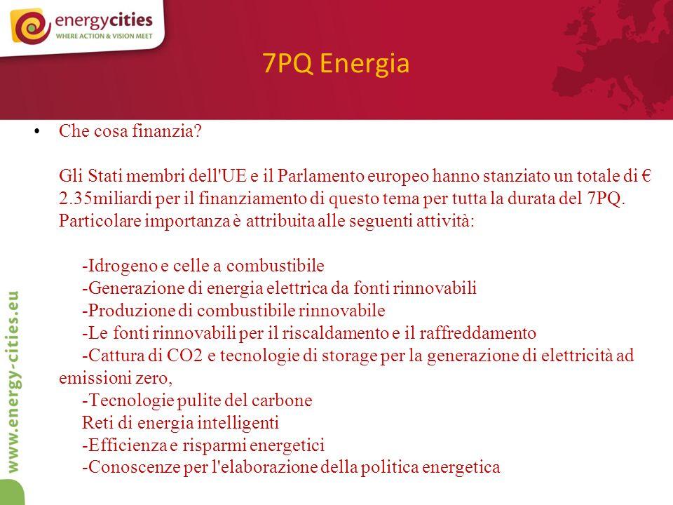 7PQ Energia Che cosa finanzia.