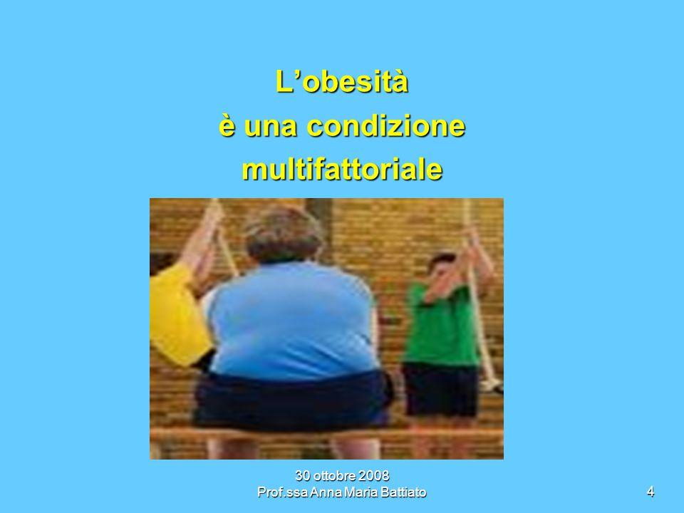 30 ottobre 2008 Prof.ssa Anna Maria Battiato5 Quali sono i problemi a cui va incontro un bambino obeso?