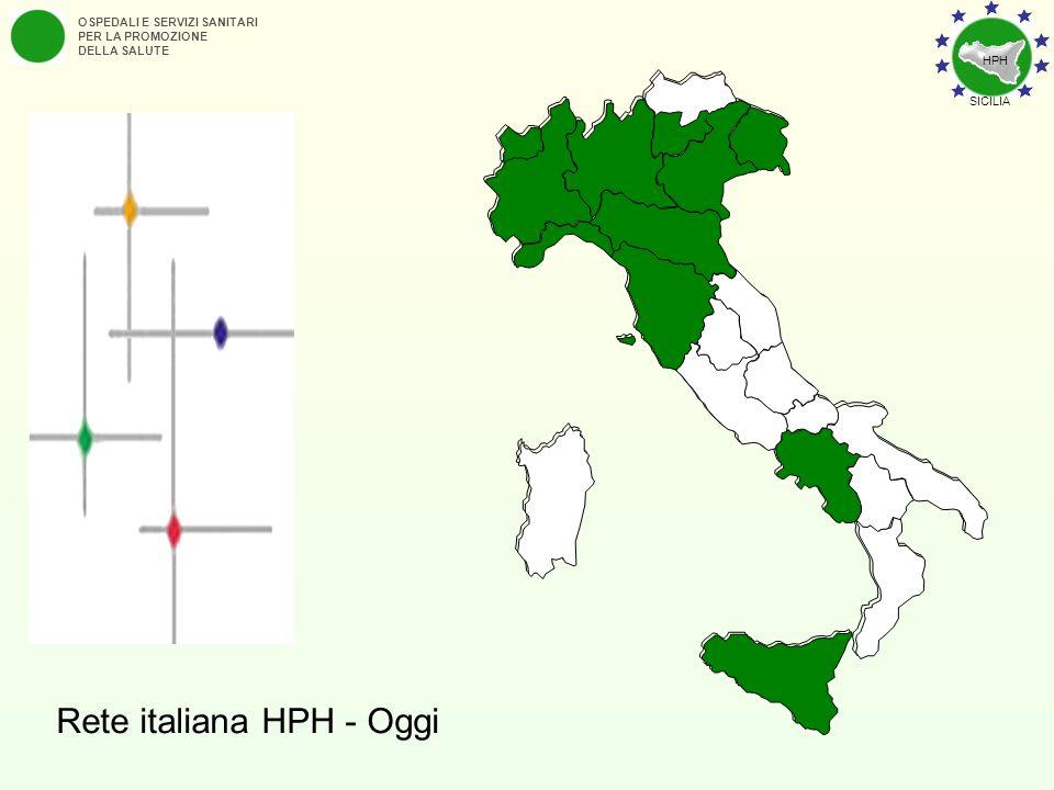 OSPEDALI E SERVIZI SANITARI PER LA PROMOZIONE DELLA SALUTE Rete italiana HPH - Oggi HPH SICILIA