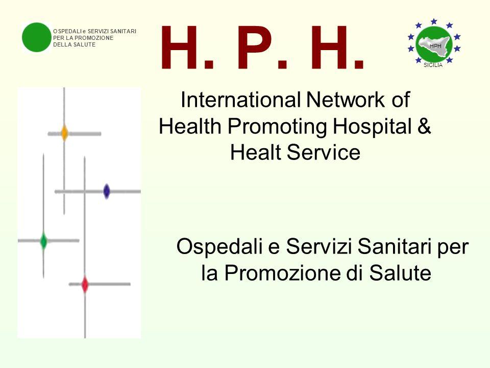 H. P. H. OSPEDALI e SERVIZI SANITARI PER LA PROMOZIONE DELLA SALUTE International Network of Health Promoting Hospital & Healt Service Ospedali e Serv