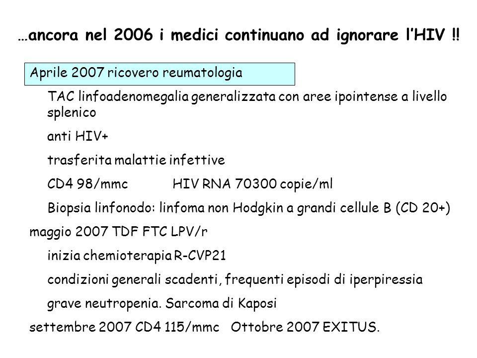 …ancora nel 2006 i medici continuano ad ignorare lHIV !.