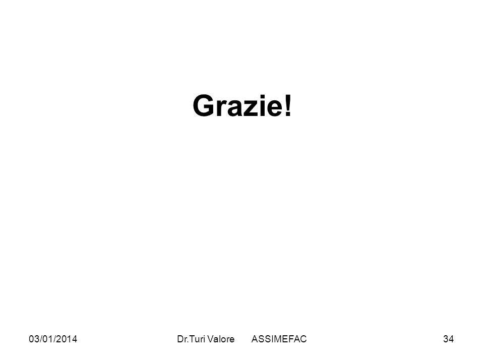 03/01/2014Dr.Turi Valore ASSIMEFAC34 Grazie!