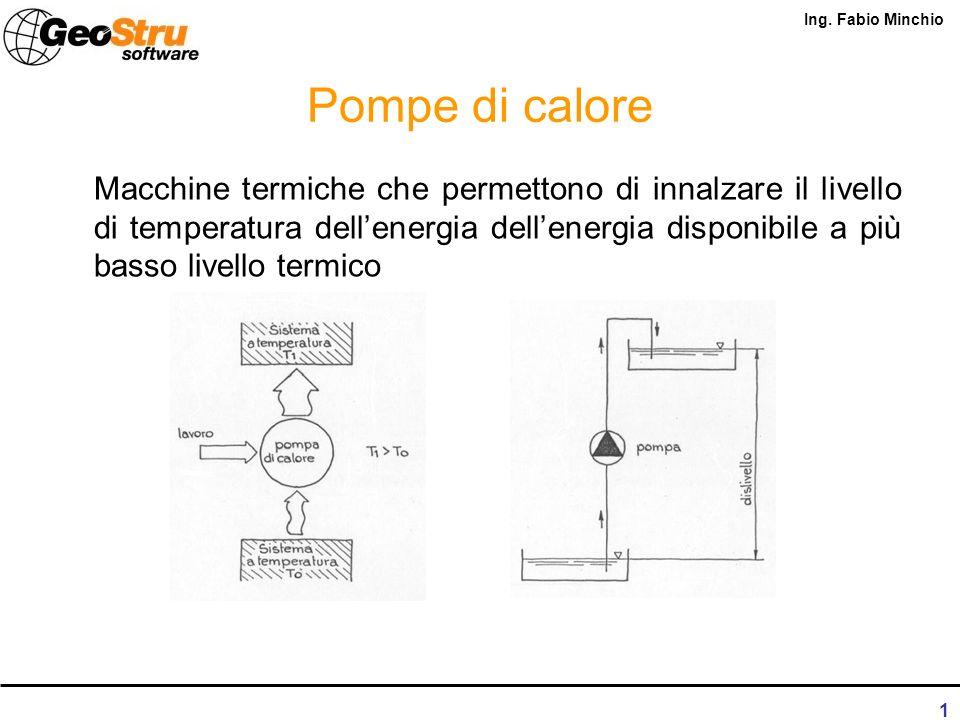 Pompe di calore geotermiche ing. Fabio Minchio Ph.D. in energetica Rende, 30 settembre 2010