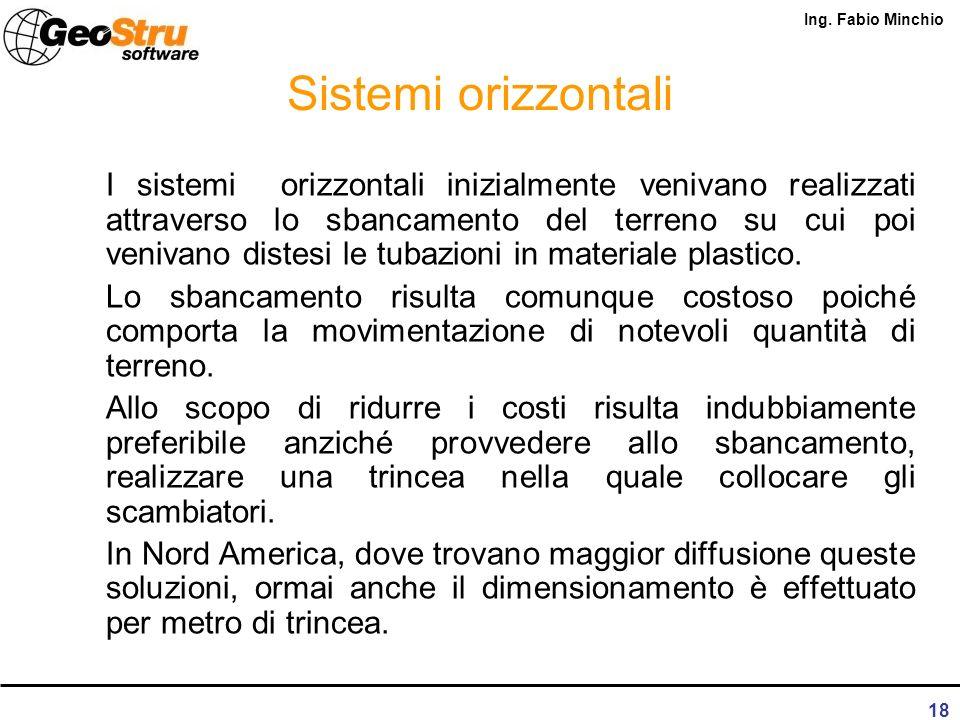 Ing. Fabio Minchio 17 Sistemi verticali