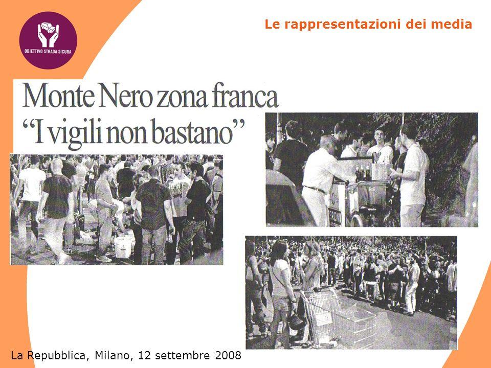 La Repubblica, Milano, 12 settembre 2008 Le rappresentazioni dei media