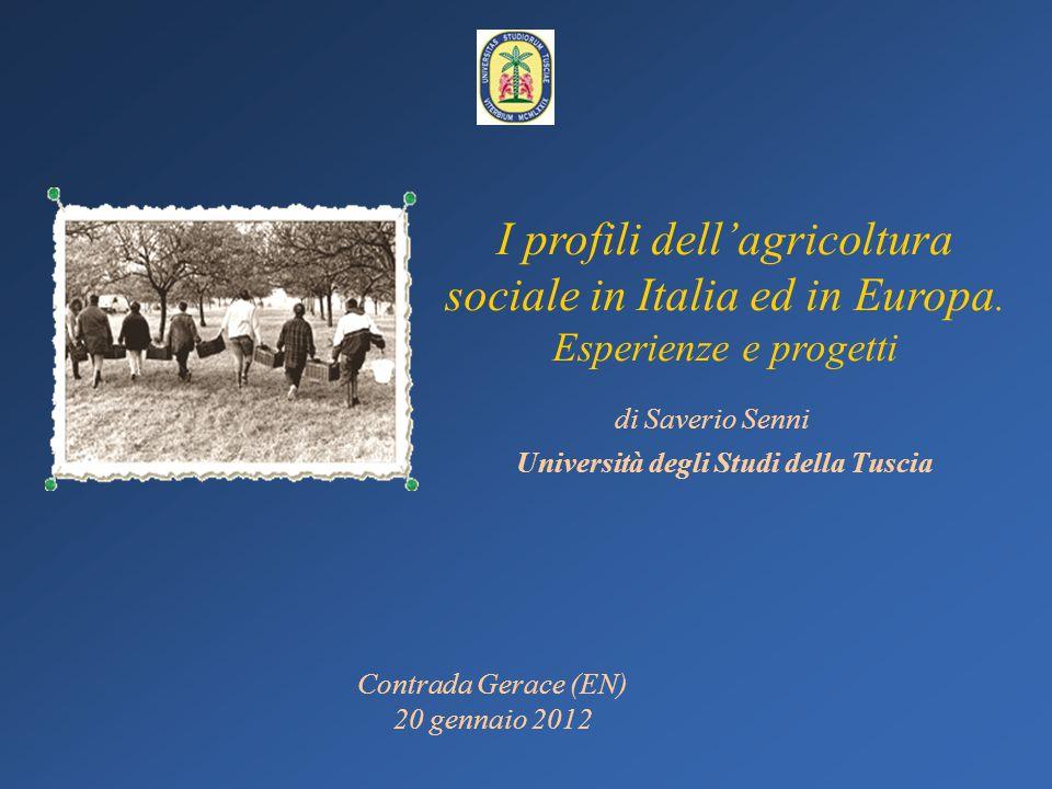 Sistemi locali di agricoltura sociale Pordenone Castelli Romani Oristano Val dEra Patto territoriale Zona Ovest Torino Tuscia