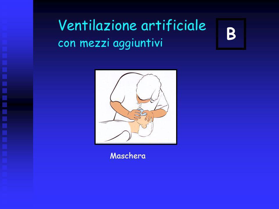 Ventilazione artificiale con mezzi aggiuntivi Maschera B