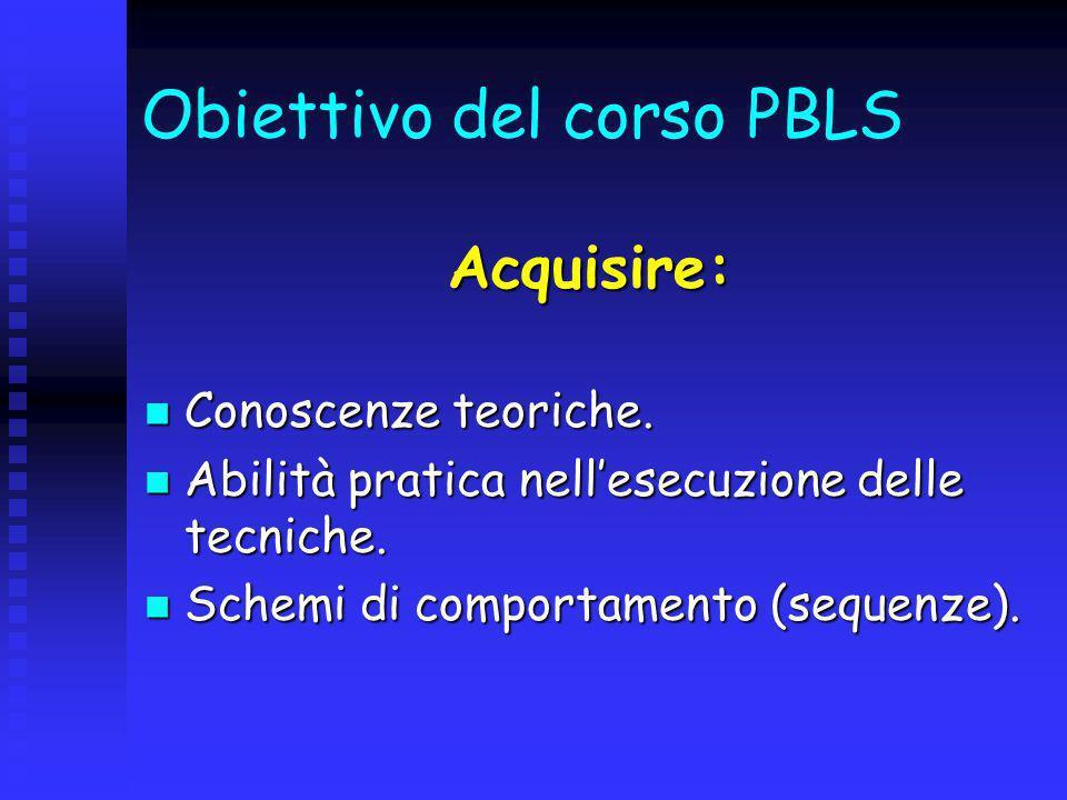 Il BLS pediatrico comprende: Il riconoscimento precoce dellarresto respiratorio e/o cardiaco.