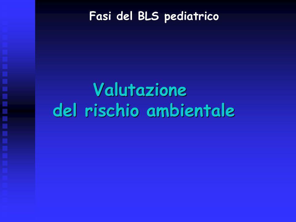 Valutazione del rischio ambientale Fasi del BLS pediatrico