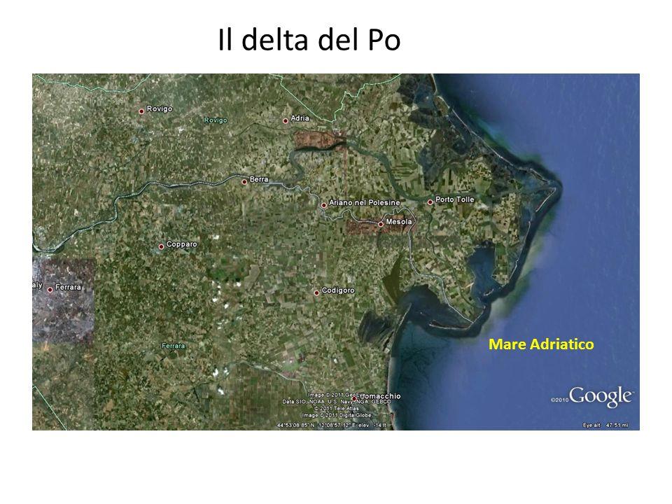 Il delta del Po Mare Adriatico
