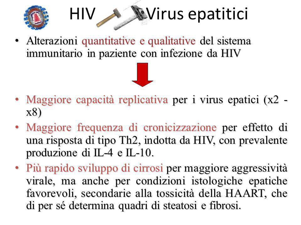 HIV Virus epatitici Alterazioni quantitative e qualitative del sistema immunitario in paziente con infezione da HIV Alterazioni quantitative e qualita