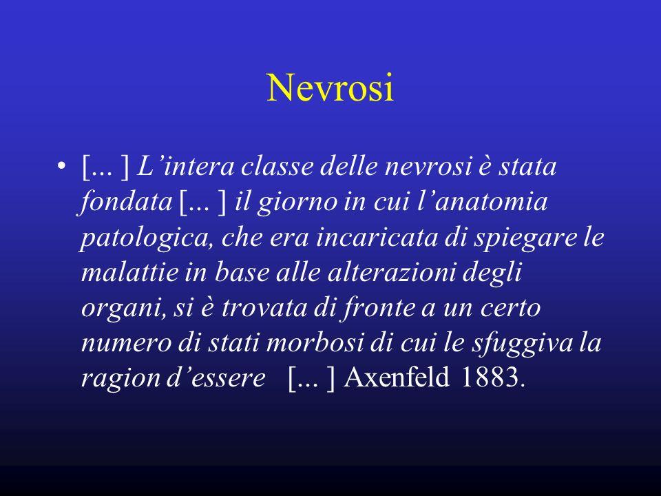 Nevrosi [... ] Lintera classe delle nevrosi è stata fondata [... ] il giorno in cui lanatomia patologica, che era incaricata di spiegare le malattie i