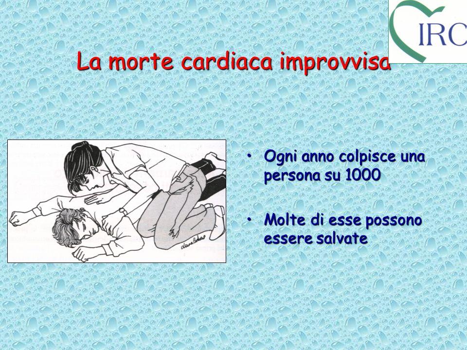 La morte cardiaca improvvisa Ogni anno colpisce una persona su 1000Ogni anno colpisce una persona su 1000 Molte di esse possono essere salvateMolte di