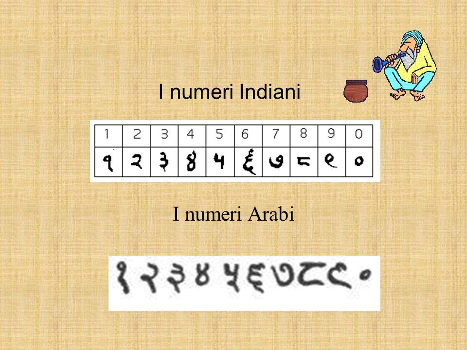 I numeri Indiani I numeri Arabi