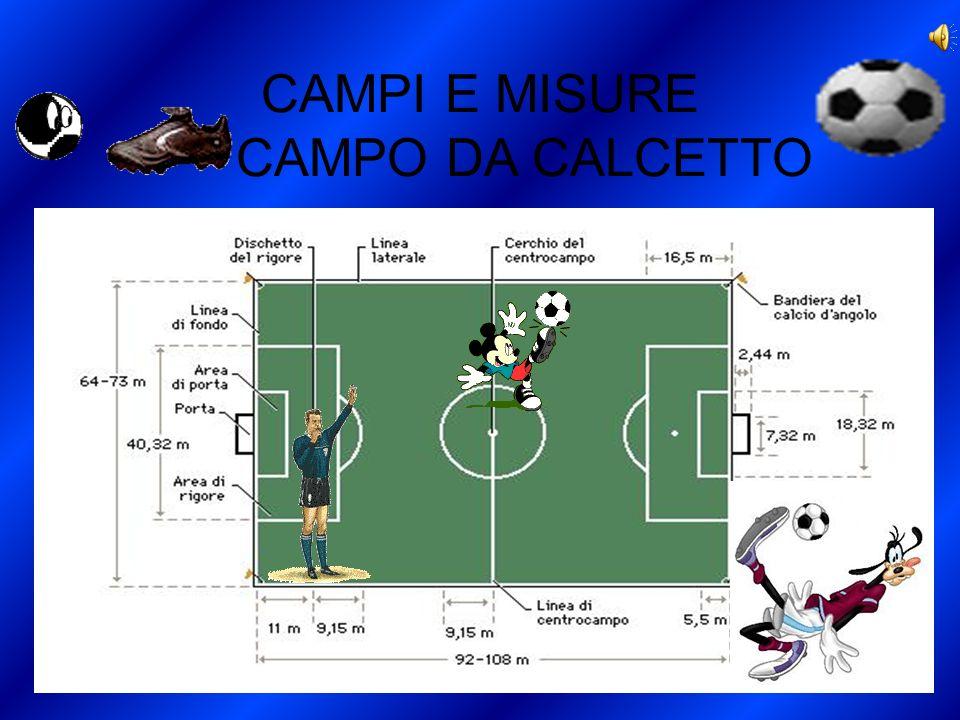 CAMPI E MISURE CAMPO DA CALCETTO