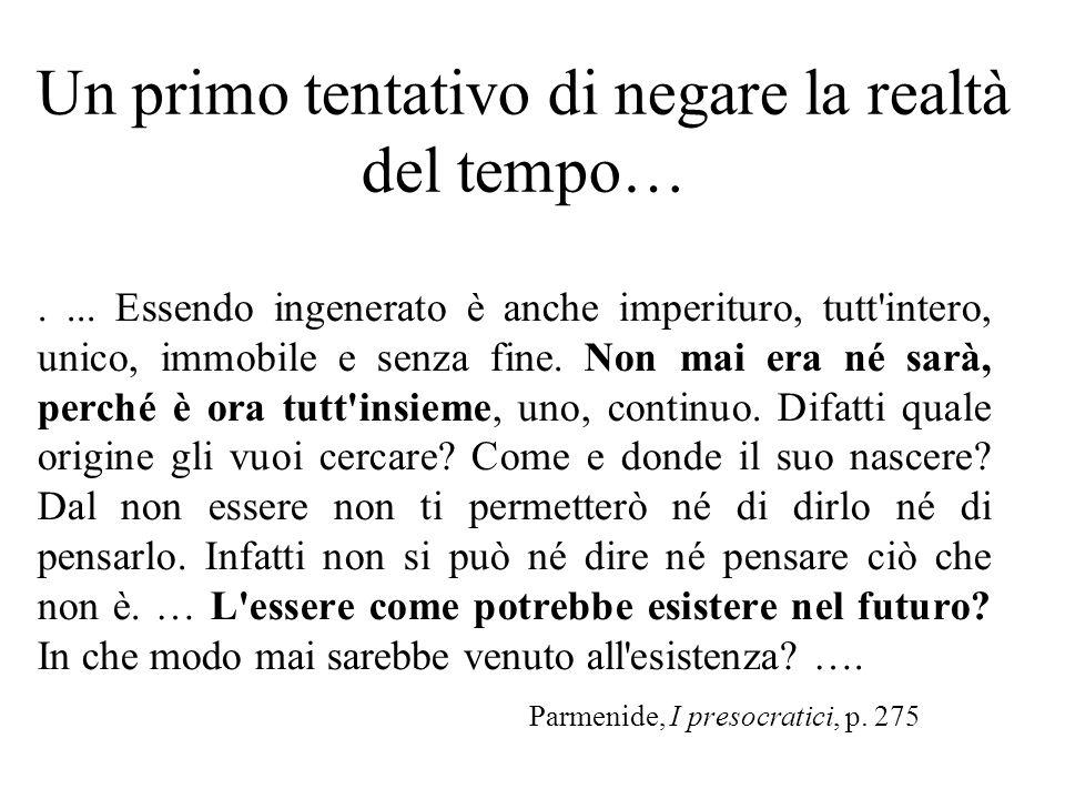 1) Einstein alla vedova di Besso: Michele mi ha preceduto anche questa volta… Ma per noi che crediamo nella fisica, la differenza tra passato presente e futuro è solo unillusione, per quanto testarda (21 Maggio 1955) 2) Il problema del Presente lo preoccupava seriamente.