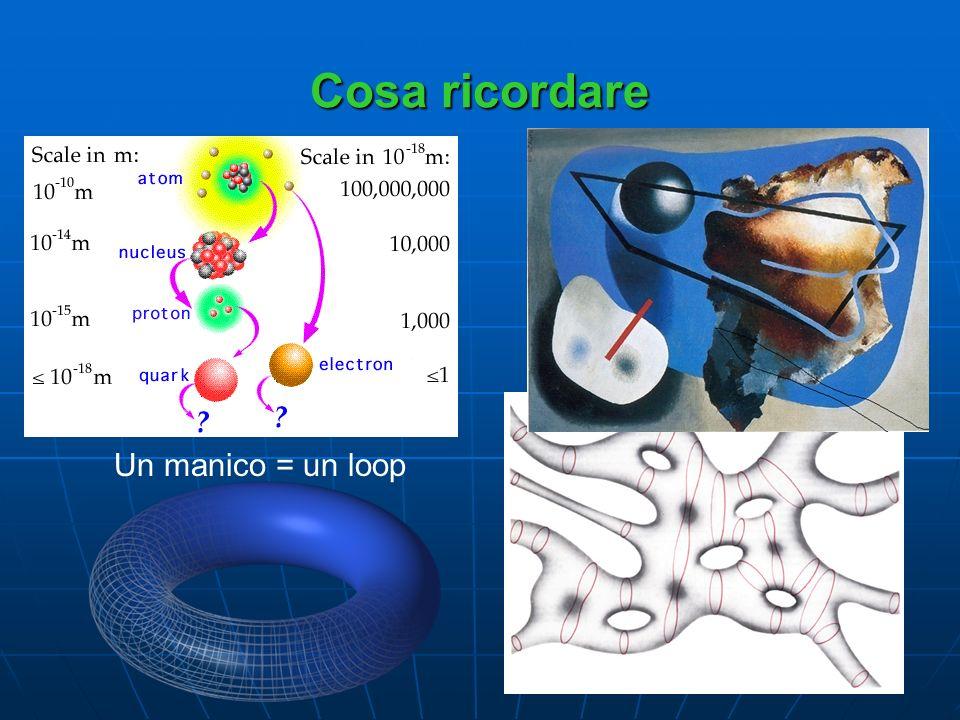 Cosa ricordare Molti manici = molti loops Un manico = un loop