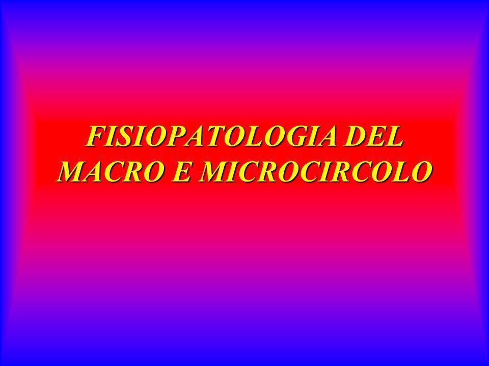 FISIOPATOLOGIA 6 LE FUNZIONI ENDOTELIALI: –Coagulation/Anticagulation Embalence prostaciclina, trombomodulina, PAI, trombomodulina,VW, etc.
