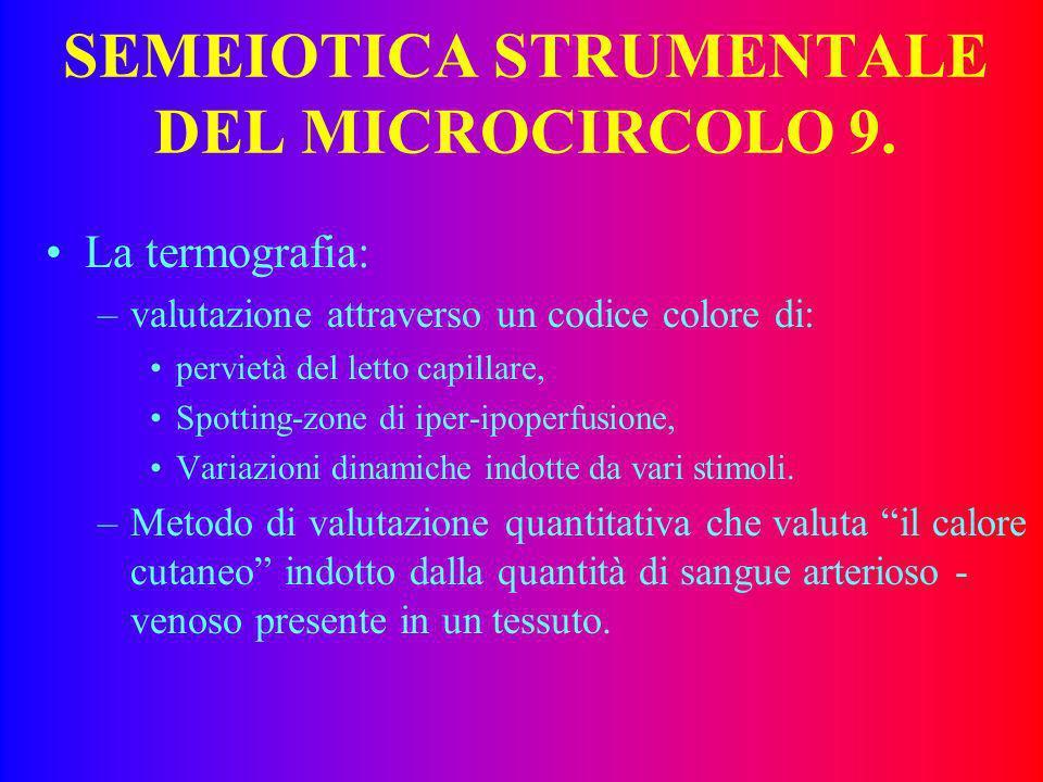 SEMEIOTICA STRUMENTALE DEL MICROCIRCOLO 8. Le metodiche di valutazione emoreologiche: –valutazione di. viscosità, deformabilità, filtrabilità. –Permet