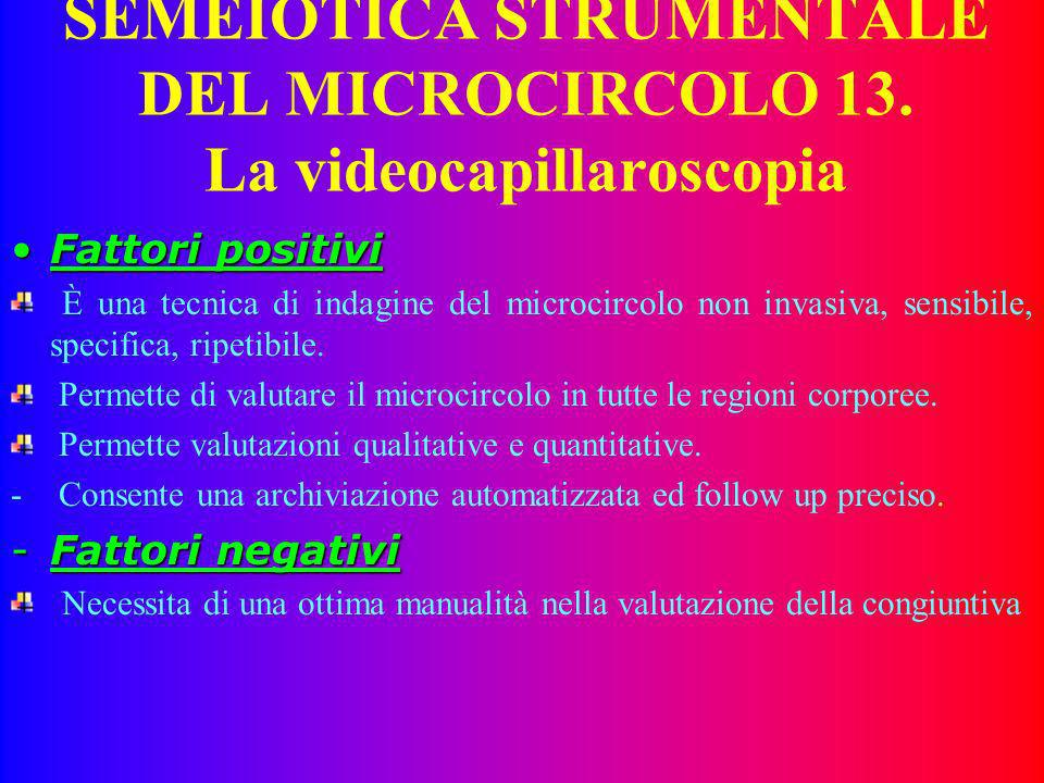 SEMEIOTICA STRUMENTALE DEL MICROCIRCOLO 12. LACCETTAZIONE DEI MIGLIORAMENTI TECNOLOGICI E ALLA BASE DELLE SOCIETA EVOLUTELACCETTAZIONE DEI MIGLIORAMEN