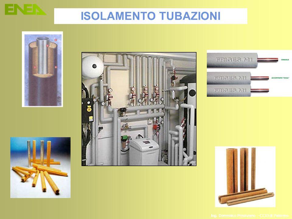 Ing. Domenico Prisinzano – CCEI di Palermo ISOLAMENTO TUBAZIONI