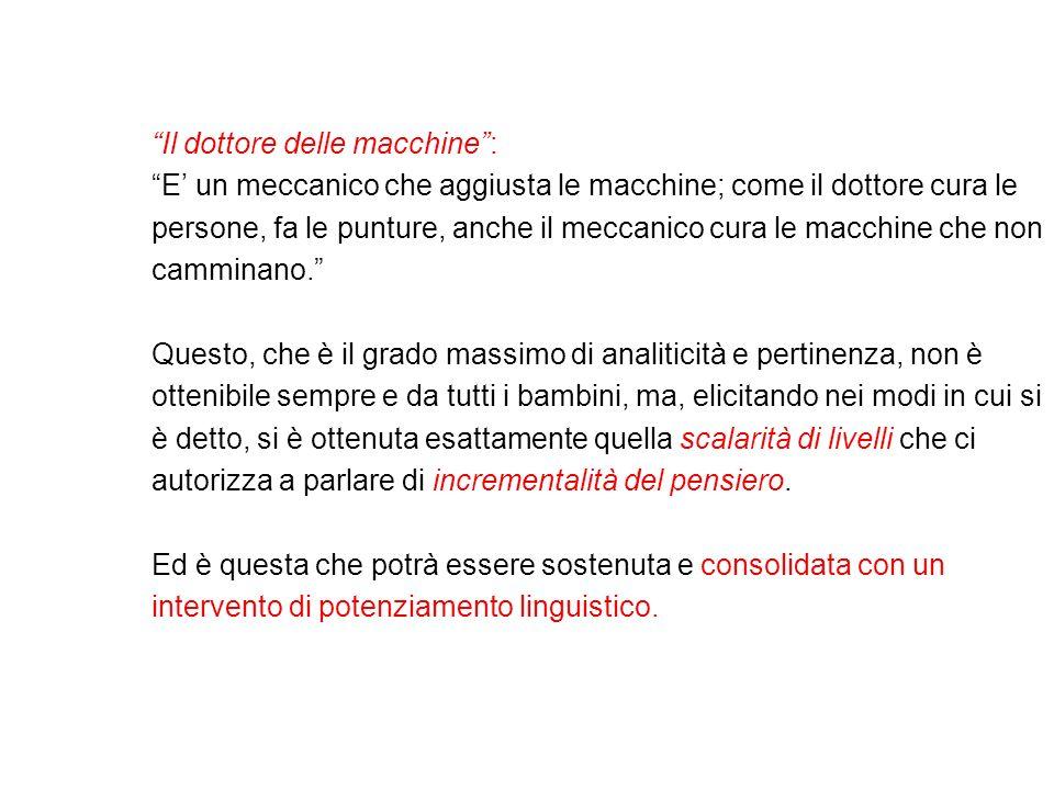 Il dottore delle macchine: E un meccanico che aggiusta le macchine; come il dottore cura le persone, fa le punture, anche il meccanico cura le macchin