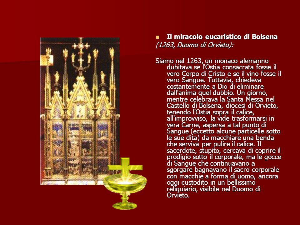 Il miracolo eucaristico di Offida.Il miracolo eucaristico di Offida.