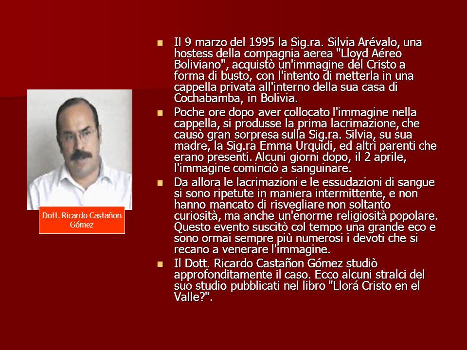 Il 9 marzo del 1995 la Sig.ra. Silvia Arévalo, una hostess della compagnia aerea